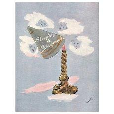 Vintage Original  French Schiaparelli Perfume Print