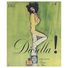 Original French Christian Dior perfume print- Gruau