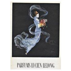 Matted Vintage Mid-Century Lancome Perfume Advertising Print by Gruau
