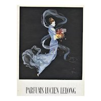 Matted Vintage Mid-Century Lucien Lelong Perfume Advertising Print by Gruau