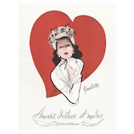 Original Vintage French Print for your Valentine