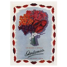 Original Vintage French Advertisement print for Lipstick