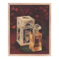 Matted Mid-century Vintage Lancome Perfume Print