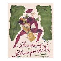 Rare Schiaparelli Perfume Vintage 1949 Print