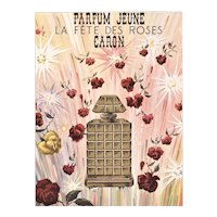 Matted Vintage French Perfume Print-Caron Roses