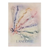 Matted Vintage Mid-Century Lancome Perfume Advertising Print
