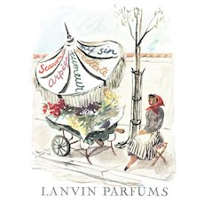 Matted Vintage French Lanvin Perfume Print-Arpège, My Sin etc