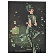 Matted Mid-Century French Advertisement Perfume Print