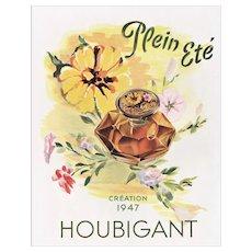 Matted Large Mid-Century 1947 French Perfume Print-Houbigant
