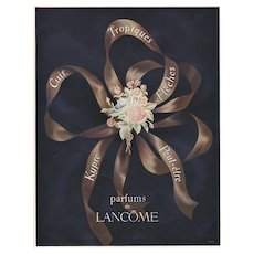 Matted Mid-Century French Perfume Advertising Print-Lancome