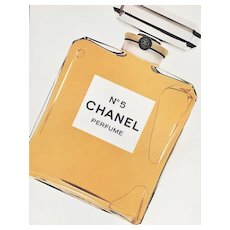 1981 French Chanel No.5 Perfume Advertisement Print, Matted