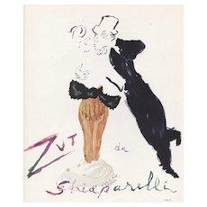 Matted Original French Schiaparelli Perfume Advertising Print