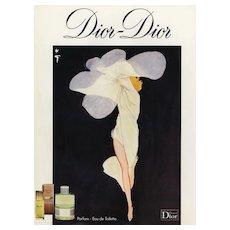 Matted Vintage Dior Advertising Perfume Print by Gruau
