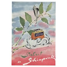 Matted Mid-Century French Perfume Print-Schiaparelli