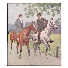 Matted Vintage Print for the Horse Lover
