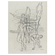 Print of Dancers by Paul Colin