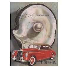 Original Vintage French Advertisement Print for Mercedes-Benz Automobile