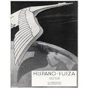 Art Deco Hispano-Suiza automobile print