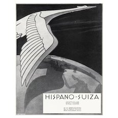 Art Deco Hispano-Suiza automobile print