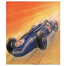 WOW! Mid-century Racing Car Print