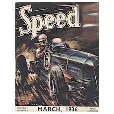 Vintage 1936 Racing Car Print