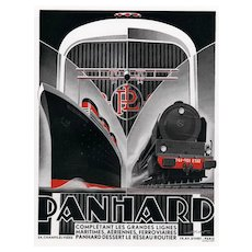 Matted Art Deco Advertisement Print for the Engine for Boats, Planes, Trains, Automobiles