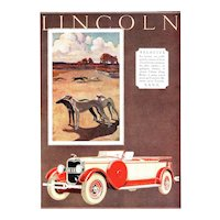 Vintage Art Deco Automobile Print-Lincoln