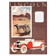 Vintage Art Deco Automobile Print-Lincoln