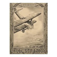Matted 1924 Aviation Print