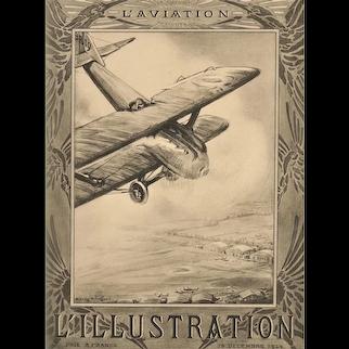 Matted 1924 Aviation Print