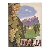 Italy Travel Landscape Lithograph 1937
