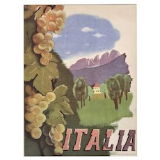 Italy Travel Lithograph 1937