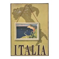 Italy Travel Map Lithograph 1938
