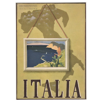 Italy Travel Lithograph 1938