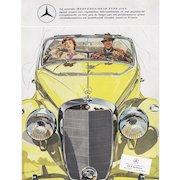 Original Vintage Mercedes-Benz convertible print