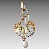 Art Nouveau 14k Gold Krementz & Co Pendant