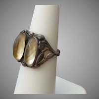 Unusual Arts & Crafts Sterling & Quartz Ring