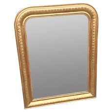 French Louis Philippe Mirror With Original Glass And Back