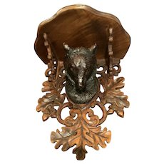 Black Forest Heavily Carved Shelf With A Bear's Head (title)