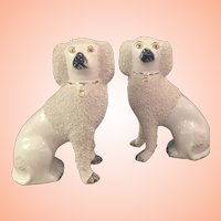 Pair Of Staffordshire Poodles With Split Legs