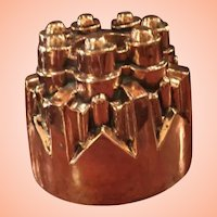Copper Pudding Mold Shaped Like A Sand Castle From England