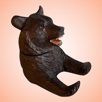 Black Forest Inkwell And Pen Holder In The Shape Of A Bear