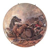 Pratt Ware Pot Lid Titled WAR