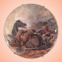 Pratt Ware Pot Lid Titled WAR