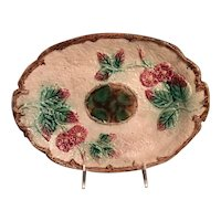 Majolica Bread Plate From England