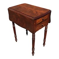Sewing Table In Flamed Mahogany From 19 th Century England