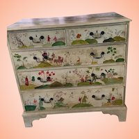 Antique Hand Painted Chest From England