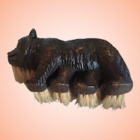 Black Forest Bear From Switzerland Or Germany Made Into A Brush