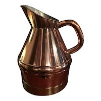 Large Copper Grain Measure With Brass Band Made In England