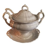 Ironstone Tureen With Ladle And Under Plate By Maastricht Of Holland